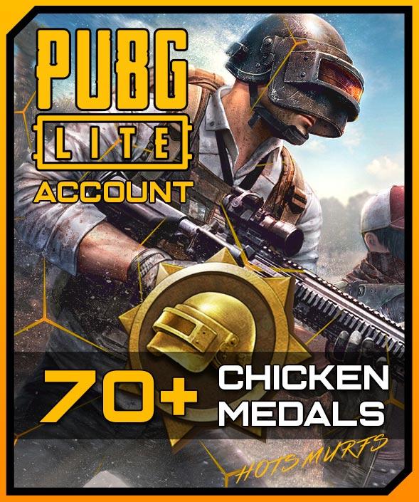 PUBG Lite Handleveled Full Access Account 70+ Chicken Medals